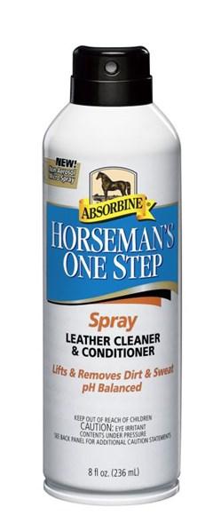 Absorbine Horseman´s One Step Spray - Čistící balzám na kožené výrobky ve spreji, 237 ml