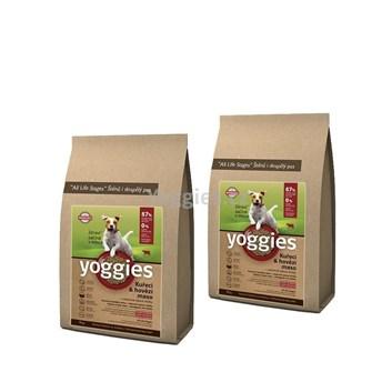 Yoggies MINIGRANULE kuřecí a hovězí maso 8 Kg ( 2 x 4 Kg )