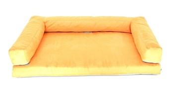 Aminela pelíšek s okrajem 100x70 cm Half and Half oranžová/šedá