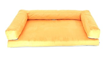 Aminela pelíšek s okrajem 120x80 cm Half and Half oranžová/šedá