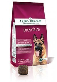 Arden GrangePremium: rich in fresh chicken & rice  24 Kg ( 2 x 12 Kg )