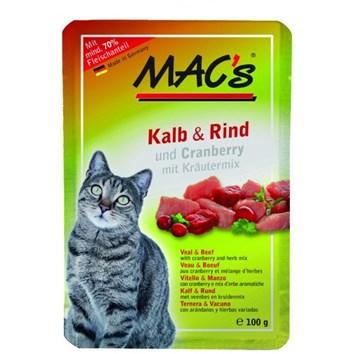Kaps. MACs Cat TELECÍ, HOVĚZÍ a BRUSINKA 100 g