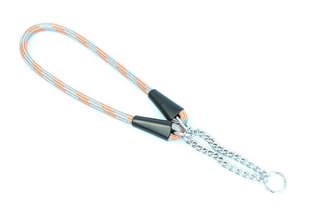 Aminela obojek lano - Serie G, velikost 10x50 cm, šedá/oranžová