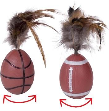 Nobby hračka pro kočky stojící míč 13 cm 2 ks