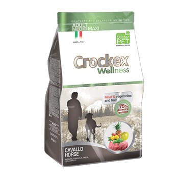Crockex Adult koňské maso s rýží 12 Kg