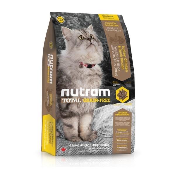 T22 Nutram Total Grain Free Turkey, Chicken & Duck Cat 6,8 Kg