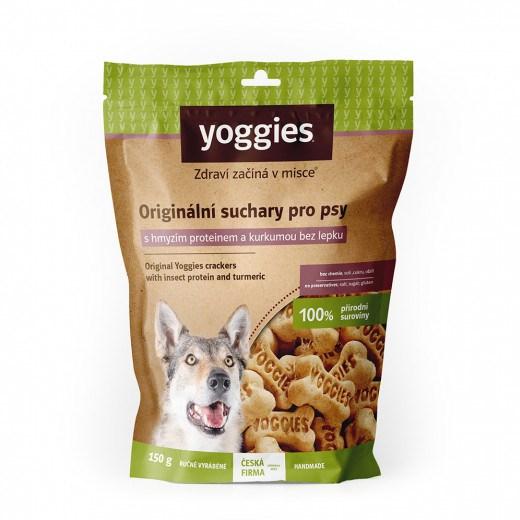 Yoggies hypoalergenní bezlepkové suchary s hmyzím proteinem a kurkumou 150 g