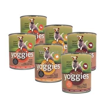 Yoggies 2+2+2 Krůtí, hovězí a zvěřinové konzervy ( 6 x 800 g )