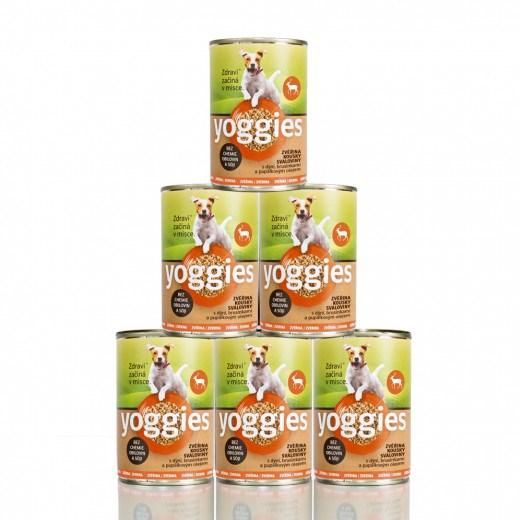 Yoggies zvěřinová konzerva 5+1 zdarma ( 6 x 400 g )
