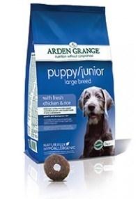 Arden Grange Puppy/Junior Large Breed:  fresh chicken & rice  12 Kg