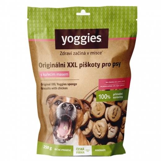 Yoggies XXL bezlepkové piškoty s kuřecím masem 250 g