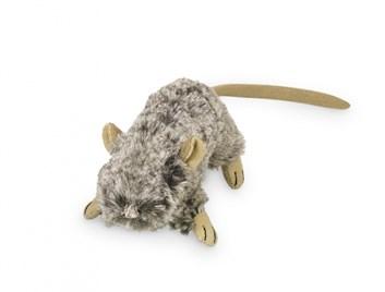 Nobby plyšová myš šustivá 10 cm šedá