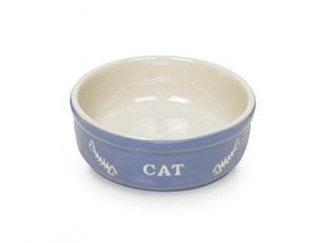 Nobby Cat keramická miska 13,5 cm modrá