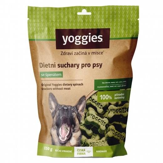 Yoggies dietní bezlepkové suchary pro psy bez masa a lepku se špenátem 150 g
