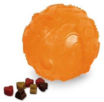 Nobby TRP Snack Ball plnící hračka velká 10 cm oranžová
