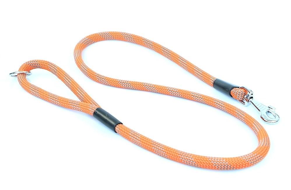 Vodítko Aminela lanové - serie G, délka 150 cm, síla 14mm, oranžová/šedá