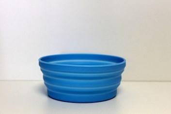 Silikonová skládací cestovní miska modrá průměr 13,6 cm