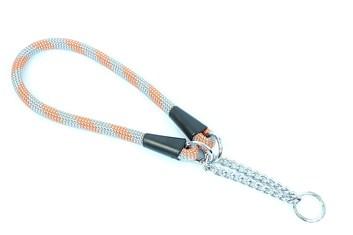 Aminela obojek lano - Serie G, velikost 14x65 cm, šedá/oranžová