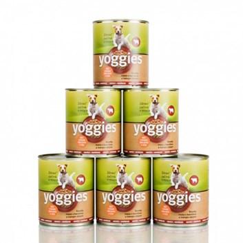 Yoggies hovězí konzerva 5+1 zdarma ( 6 x 800 g )