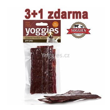 Yoggies sušené hovězí maso 3+1 zdarma ( 4 x 50 g )