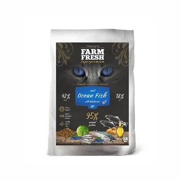 Farm Fresh Cat Adult Ocean Fish with Blueberries Grain Free 5 Kg