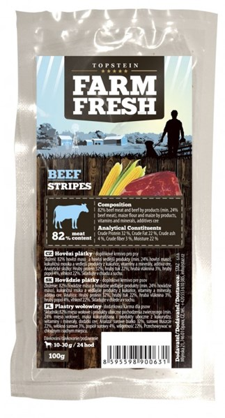 Farm Fresh Beef Stripes 100 g