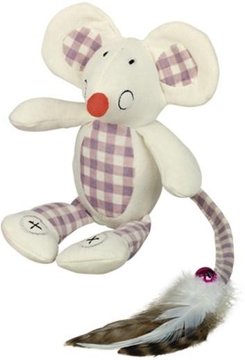 Nobby hračka pro kočky plochá myška krémová 18 cm