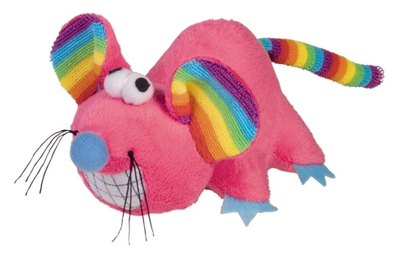 Nobby RAINBOW hračka plyšová myš 14 cm