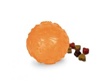 Nobby TRP Snack Ball plnící hračka malá 8 cm oranžová
