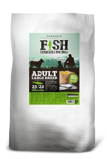 Topstein Fish Crunchies Adult Large Breed 30 Kg (15 Kg + 15 Kg)