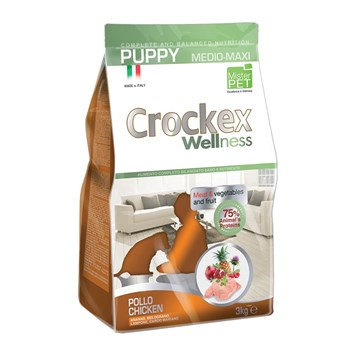 Crockex Puppy kuře s rýží 12 Kg