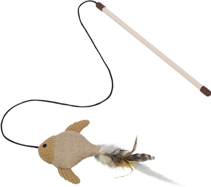 Nobby hračka pro kočky udice + sisal. rybka
