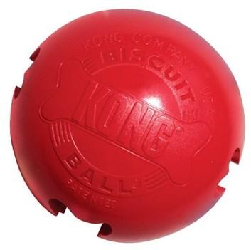 Kong Biscuit Ball Large gumová plnící hračka 10 cm