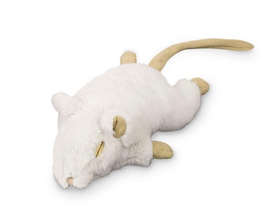 Nobby plyšová myš bílá 19 cm