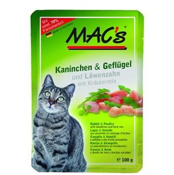 Kaps. MACs Cat KRÁLÍK, DRŮBEŽ a PAMPELIŠKA 100 g