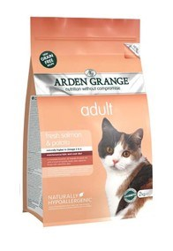 Arden Grange Adult Cat: with fresh salmon & potato - grain free recipe 400 g