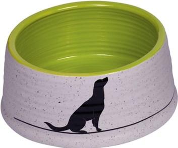 Nobby Luna keramická miska zelená 15 x 6,5 cm
