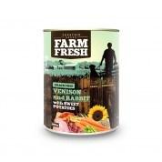 Farm Fresh – Venison & Rabbit with Sweet Potatoes 400g