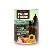 Farm Fresh – Venison & Rabbit with Sweet Potatoes 400g