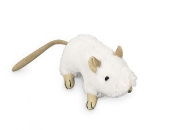 Nobby plyšová myš šustivá 10 cm bílá