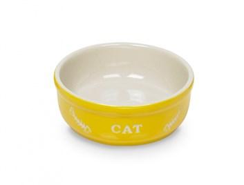 Nobby Cat keramická miska 13,5 cm žlutá