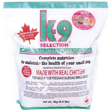 K-9 SELECTION GROWTH SMALL BREED FORMULA 3 Kg