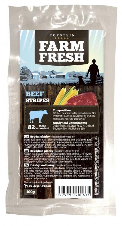 Farm Fresh Beef Stripes 3 x ( 100 g )