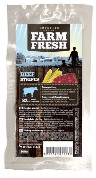 Farm Fresh Beef Stripes 3 x ( 100 g )