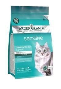 Arden Grange Adult Cat Sensitive: Ocean White Fish and Potato - grain free recipe 2 Kg