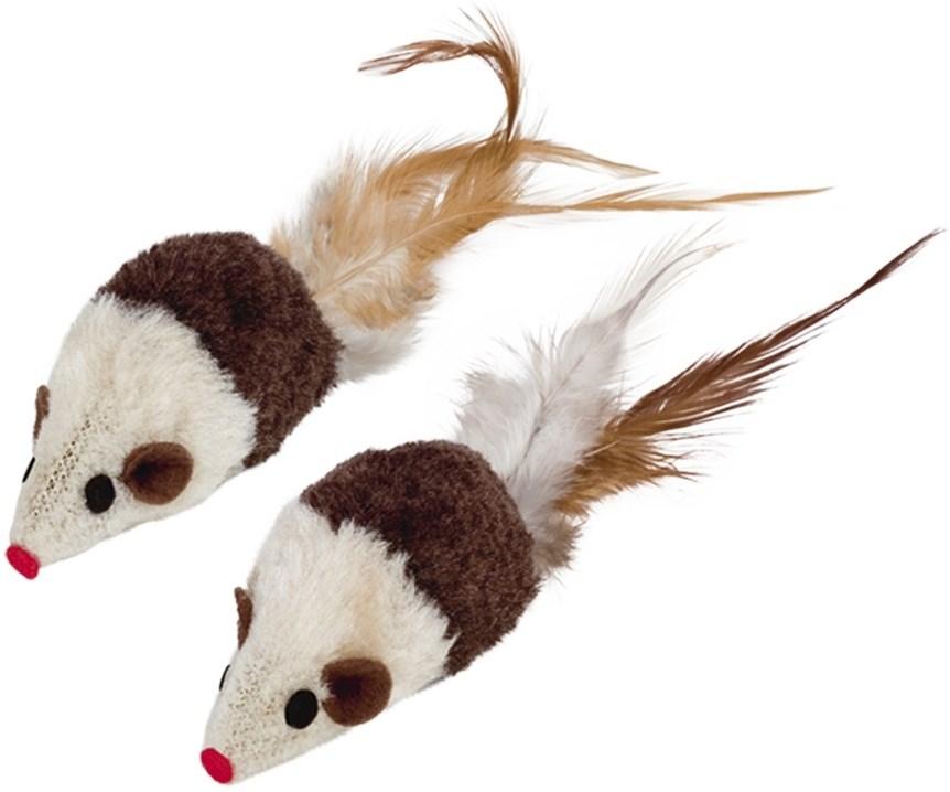 Nobby hračka pro kočky plyšové myšky 2ks 7 cm