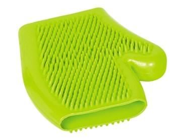 Nobby čistící a masážní rukavice zelená 16x18 cm