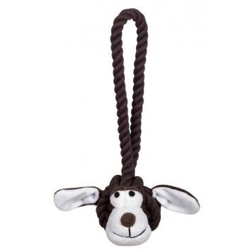 Nobby Rope Toy lanový pes s úchytem hnědý 28 cm 1 ks