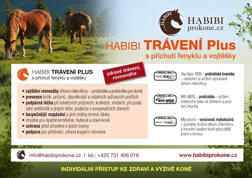 HABIBI speciální směs - TRÁVENÍ PLUS 1,3 kg - 26 dní