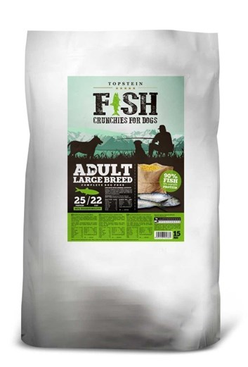 Topstein Fish Crunchies Adult Large Breed 15 Kg